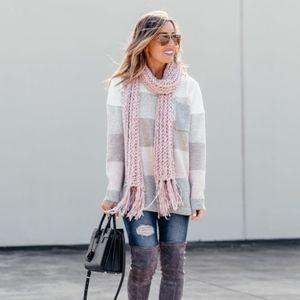 NWOT Marcus Adler pink scarf